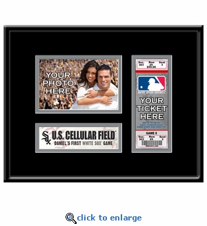 Chicago White Sox Personalized First Game Ticket Frame