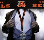 Cincinnati Bengals NFL Lanyard Key Chain and Ticket Holder - Black