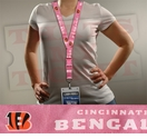 Cincinnati Bengals NFL Lanyard Key Chain and Ticket Holder - Pink