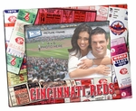 Cincinnati Reds Padded Front 4x6 Picture Frame - Ticket Collage Design
