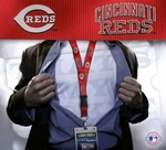Cincinnati Reds MLB Lanyard Key Chain and Ticket Holder - Red