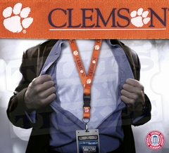 Clemson Tigers NCAA Lanyard Key Chain and Ticket Holder - Orange