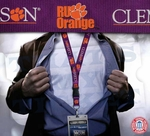 Clemson Tigers NCAA Lanyard Key Chain and Ticket Holder - Purple