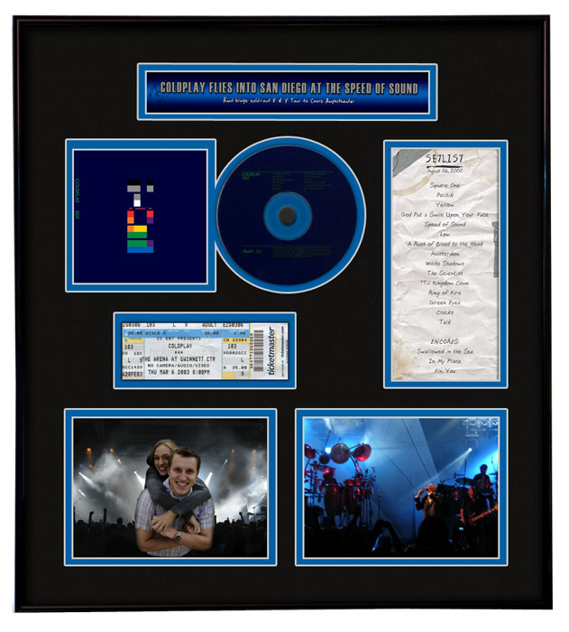 coldplay ticket frame code tmt tfcold 14995
