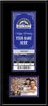 Colorado Rockies Special Occasion Announcement Mini-Mega Ticket Framed Print and 4x6 Photo