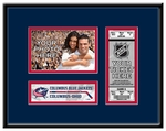 Columbus Blue Jackets 4x6 Photo and Ticket Frame
