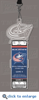 Columbus Blue Jackets Engraved Ticket Holder