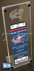 Columbus Blue Jackets Engraved Ticket Stand