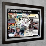Columbus Blue Jackets Ticket & Photo Collage Frame