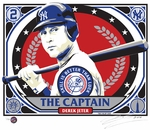 Derek Jeter Sports Propaganda Handmade LE Screen Print - Yankees