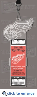 Detroit Red Wings Engraved Ticket Holder