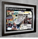Detroit Red Wings Ticket & Photo Collage Frame