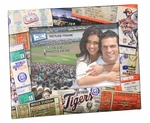 Detroit Tigers Padded Front 4x6 Picture Frame - Ticket Collage Design