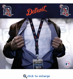 Detroit Tigers MLB Lanyard Key Chain and Ticket Holder