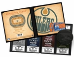 Edmonton Oilers Ticket Album - Vintage Design