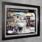 Edmonton Oilers Ticket & Photo Collage Frame