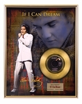 Elvis Presley - If I Can Dream Framed Gold 45 w/ 16x20 Photo Background, LE 250