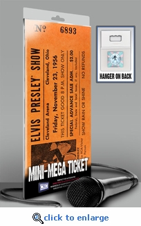 Elvis Presley Mini-Mega Ticket - Nov 23, 1956 Cleveland Arena
