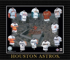 Evolution of The Team Uniform Framed Photograph - MLB - Houston Astros