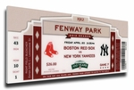 Fenway Park 100th Anniversary Game Canvas Mega Ticket - Boston Red Sox