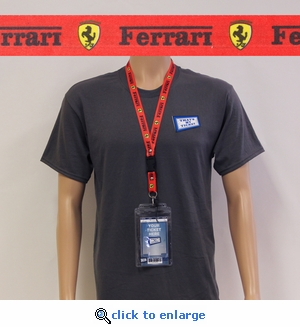 Ferrari Lanyard Key Chain with Ticket Holder