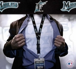 Florida Marlins MLB Lanyard Key Chain and Ticket Holder