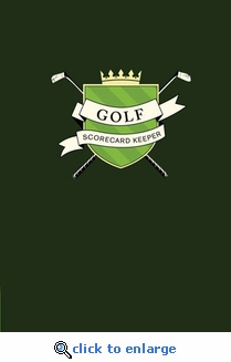 Golf Scorecard Keeper Book