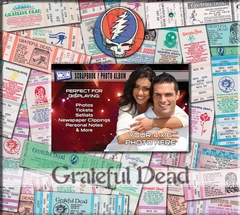 Grateful Dead 8 x 8 Ticket & Photo Album Scrapbook