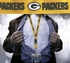 Green Bay Packers NFL Lanyard Key Chain and Ticket Holder - Yellow