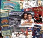 Houston Astros 8 x 8 Ticket & Photo Album Scrapbook