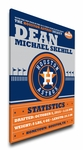Houston Astros Personalized Canvas Birth Announcement - Baby Gift