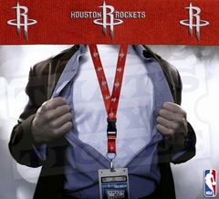 Houston Rockets NBA Lanyard Key Chain and Ticket Holder - Red