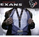 Houston Texans NFL Lanyard Key Chain and Ticket Holder - Blue
