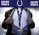 Indianapolis Colts NFL Lanyard Key Chain and Ticket Holder - Blue