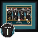 Jacksonville Jaguars Personalized Locker Room Print