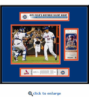 Johan Santana No Hitter Ticket Frame - New York Mets