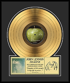 John Lennon - Imagine Framed Gold Record, LE 2,500