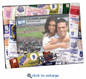Kansas City Royals Padded Front 4x6 Picture Frame - Ticket Collage Design