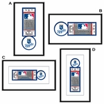 Kansas City Royals Single Ticket Frame