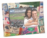 Los Angeles Dodgers Padded Front 4x6 Picture Frame - Ticket Collage Design