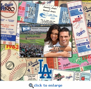Los Angeles Dodgers 8 x 8 Ticket & Photo Album Scrapbook