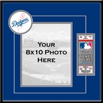 Los Angeles Dodgers 8x10 Photo and Ticket Frame