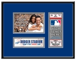 Los Angeles Dodgers Personalized First Game Ticket Frame