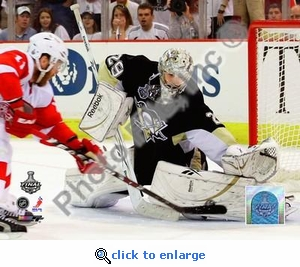 M.A. Fleury Game 6 2009 Stanley Cup 8x10 Photo