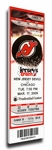 Martin Brodeur NHL All-Time Wins Record Canvas Mega Ticket - New Jersey Devils