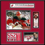 Martin Brodeur NHL All-Time Wins Record Ticket Frame - Devils
