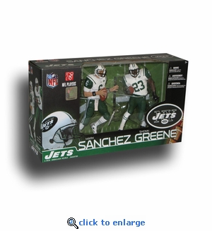 Mcfarlane NFL Mark Sanchez & Shonn Greene New York Jets Collector's Edition Action Figure 2-Pack