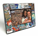 Miami Marlins Ticket Collage Black Wood Edge 4x6 inch Picture Frame