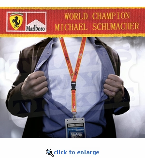 Michael Schumacher Lanyard Key Chain with Ticket Holder