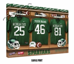 Michigan State Spartans Personalized Football Locker Room Print